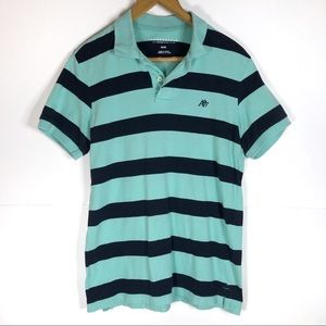 Aeropostale Striped Short Sleeve Button Up Top